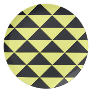 Yellow and Black Triangles Plates