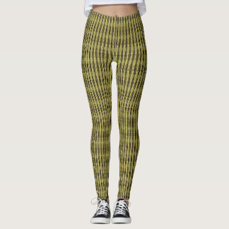 Yellow and Black  Unique modern pattern leggings