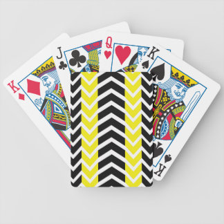 Yellow and Black Whale Chevron Bicycle Playing Cards
