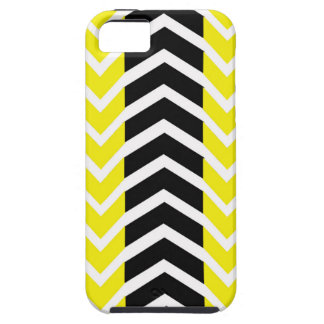Yellow and Black Whale Chevron iPhone 5 Case