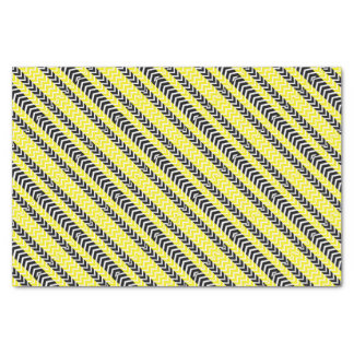 Yellow and Black Whale Chevron Tissue Paper