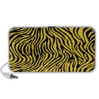 yellow and black zebra stripes portable speakers