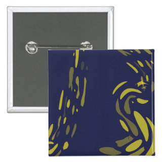 Yellow and Blue Abstract Pin