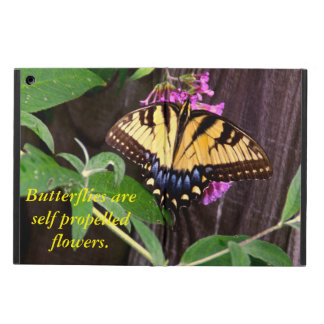 Yellow and Blue Butterfly iPad Air Cases