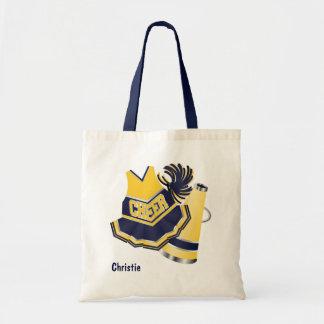 Yellow and Blue Cheerleader Tote Bag