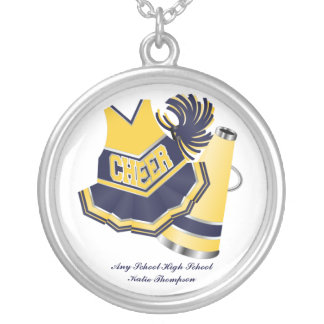 Yellow and Blue Cheerleading Necklace