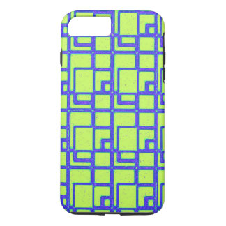 Yellow and blue geometric pattern iPhone 8 plus/7 plus case