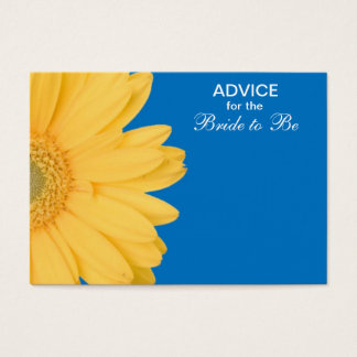 Yellow and Blue Gerber Daisy Advice for the Bride