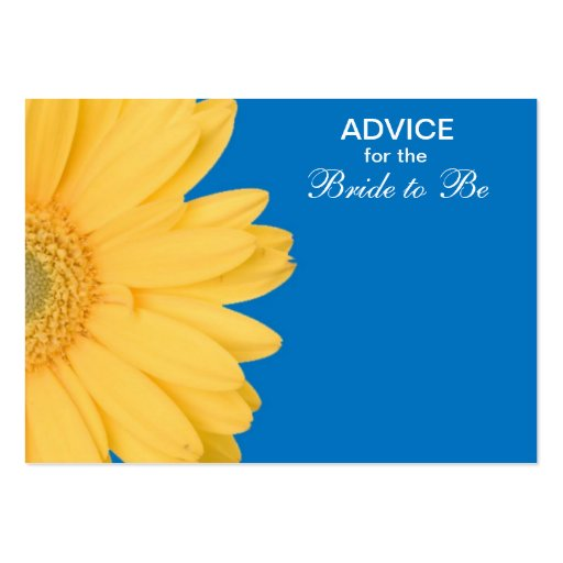 Yellow and Blue Gerber Daisy Advice for the Bride Business Card