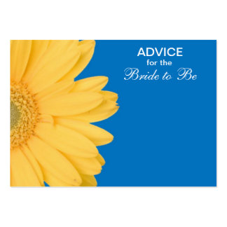 Yellow and Blue Gerber Daisy Advice for the Bride Pack Of Chubby Business Cards
