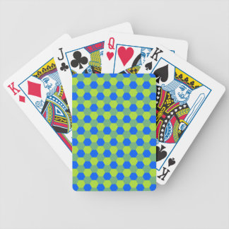 Yellow and blue honeycomb pattern bicycle playing cards