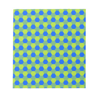 Yellow and blue honeycomb pattern notepad