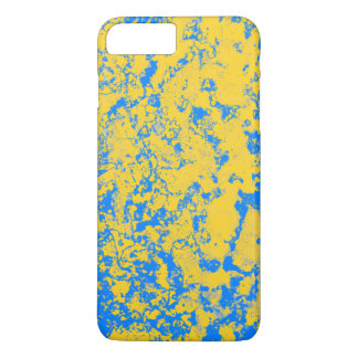 yellow and blue iPhone 7 plus case