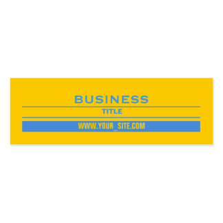 Yellow and Blue Pack Of Skinny Business Cards