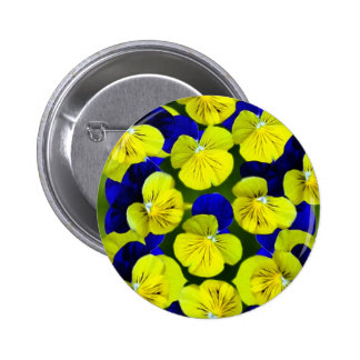 Yellow and blue pansies buttons