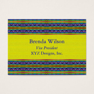 yellow and blue pattern business card