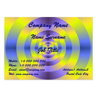 Yellow and Blue Rings Pack Of Chubby Business Cards