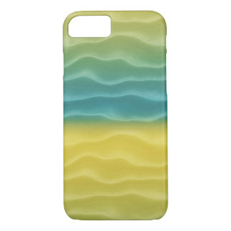 Yellow and Blue Sand Dunes Abstract iPhone 7 Case