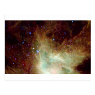Yellow and Blue Star Cluster Postcard