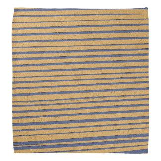 Yellow and Blue Stripe Bandana