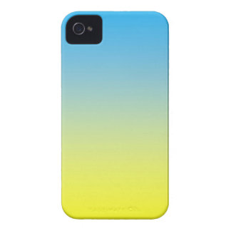 Yellow And Blue Two Tone iPhone 4 Case-Mate Cases