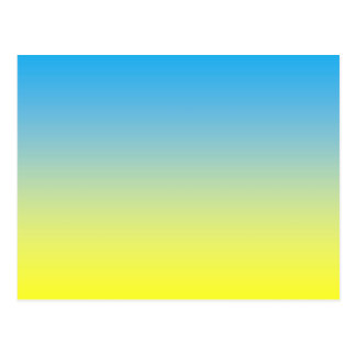Yellow And Blue Two Tone Postcard