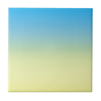 Yellow And Blue Two Tone Small Square Tile