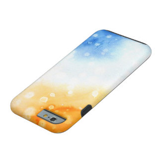 Yellow and Blue Watercolor Tough iPhone 6 Case
