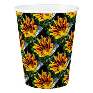 Yellow and Brown Gazania Paper Cup