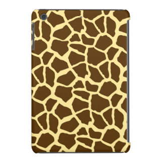 Yellow and Brown Giraffe Animal Print iPad Mini Cases