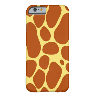 Yellow and Brown Giraffe Pattern Barely There iPhone 6 Case