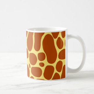Yellow and Brown Giraffe Pattern Coffee Mug