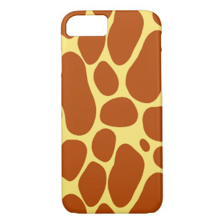 Yellow and Brown Giraffe Pattern iPhone 7 Case