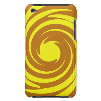 Yellow and brown swirl iPod Case-Mate cases