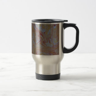 Yellow and Brown Swirl Pattern Coffee Mugs
