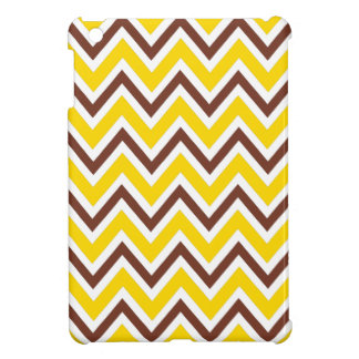 Yellow and brown zigzag chevron pattern trendy iPad mini cover