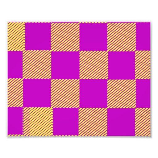 Yellow And Burgundy Squares Photo Art