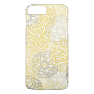 Yellow and Clay Flower Burst Design iPhone 7 Plus Case