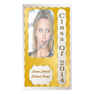Yellow and Gold 2014 Student Profile Cards Pack Of Standard Business Cards