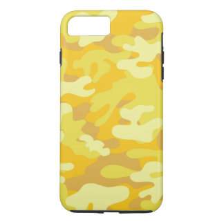 Yellow and Gold Camo Design iPhone 7 Plus Case