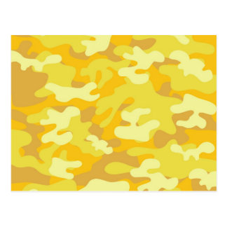 Yellow and Gold Camo Design Postcard