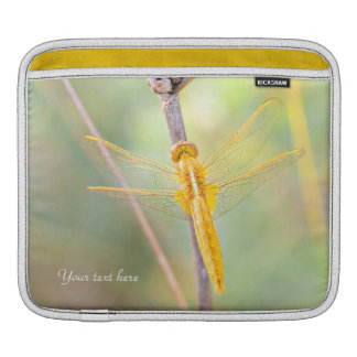 Yellow and Gold Dragonfly iPad Sleeve
