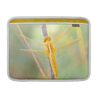 Yellow and gold dragonfly MacBook air sleeves