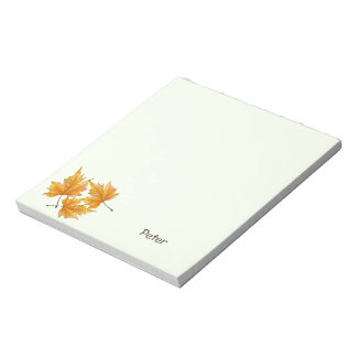 Yellow and Gold Maple Leaves Notepads