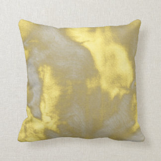 Yellow and Gray Abstract Bouquet Pillow
