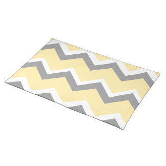 Yellow and Gray Chevron Placemats