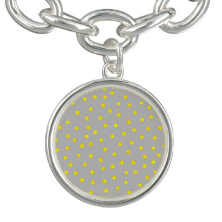 Yellow And Gray Confetti Dots
