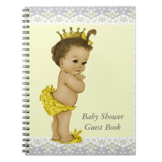 Yellow and Gray Ethnic Baby Shower Guest Book