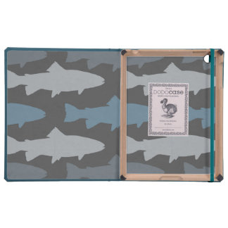 Yellow and Gray Fun Trout Fish Pattern Cases For iPad