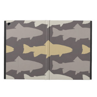 Yellow and Gray Fun Trout Fish Pattern iPad Air Case